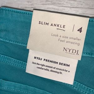 NYDJ Jeans - NYDJ Water Color Sheri Slim Ankle Jeans Size 4 NWT